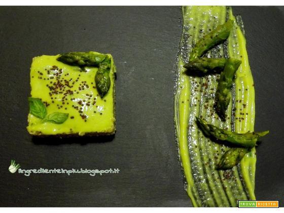 Quinoa in crema di asparagi al basilico