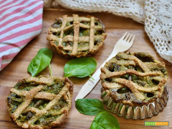 Tortini salati vegan e rustici per i pic nic