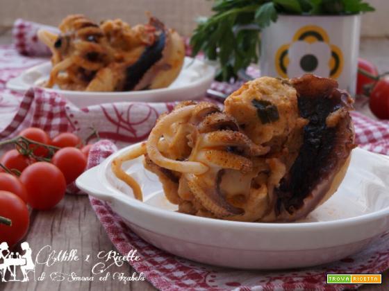 Seppia ripiena cotta nel sughetto di pomodoro pelato