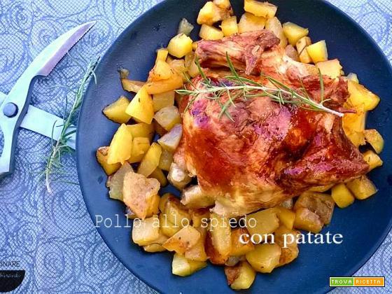Pollo arrosto croccante con le patate