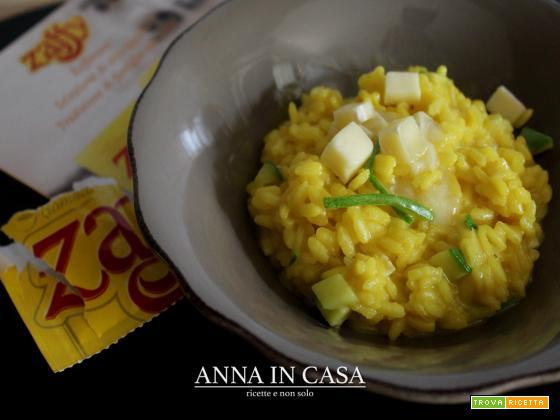 Risotto giallo con brie e zucchine