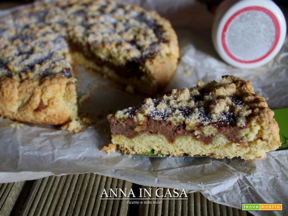 Torta golosa con ricotta e crema nocciola