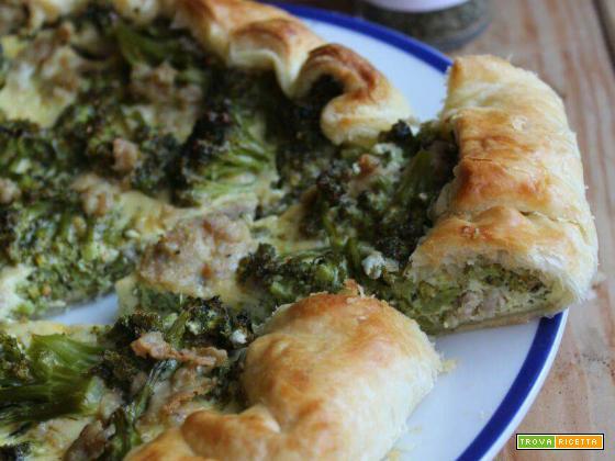 Torta di broccoli e salsiccia
