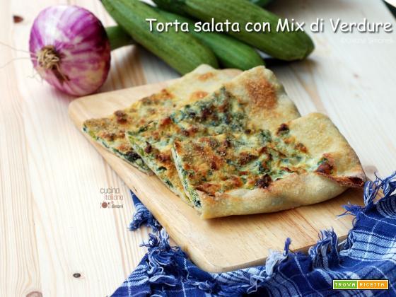 Torta salata al mix di verdure