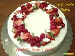 Torta Perla Rubino al cioccolato bianco e frutti rossi