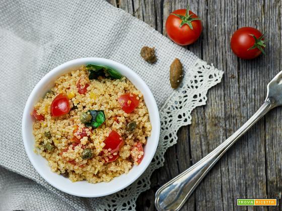 quinoa mediterranea senza sale