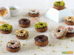 Baby donuts vegani al cioccolato fondente