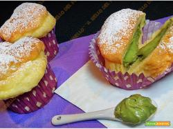 Muffin all'acqua con crema di pistacchio