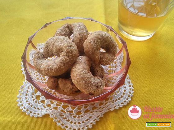 Biscotti al vino con lievito madre