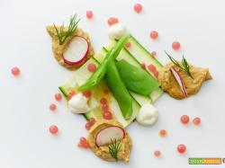 carpaccio di zucchina con patè di tempeh