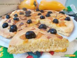 Focaccia ai peperoni e olive – lievito madre