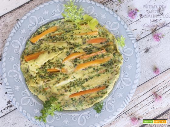 Frittata di carote e erbe aromatiche col Bimby