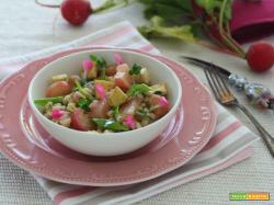 Orzo salad con tofu e ravanelli glassati