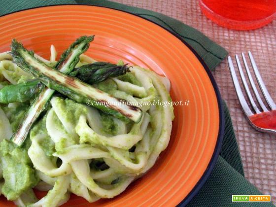 Fettucciole con crema di... Peppino, l'asparago dell'Agro Pontino!