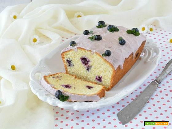 Lemon Pound Cake ai mirtilli