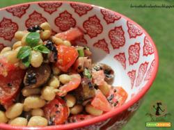 Insalata di soia mediterranea