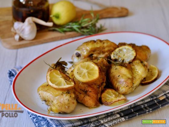 Pollo al forno con limone e rosmarino