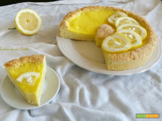 Crostata con crema al limone – ricetta frolla leggera