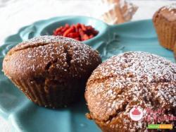 Muffin al grano saraceno e bacche di goji: senza glutine e lattosio