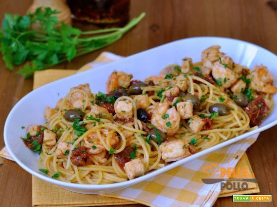 Spaghetti Alla Chitarra Con Sugo Di Pesce Ricetta Trovaricettacom