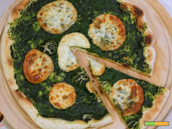 Pizza scamorza e spinaci