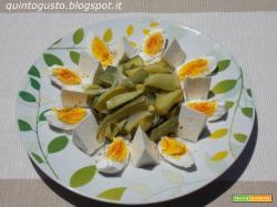 Zucchine, formaggio, uova, piatto light