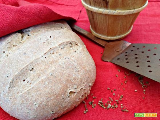 Pane con farina 2 e semi di anice (con lievito madre)