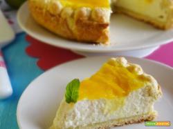 Crostata cheesecake al mango e lime