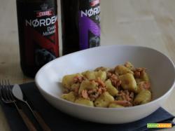 Gnocchi al salmone e birra ambrata nordica