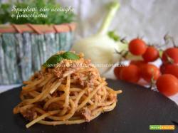 Spaghetti con acciughe e finocchietto