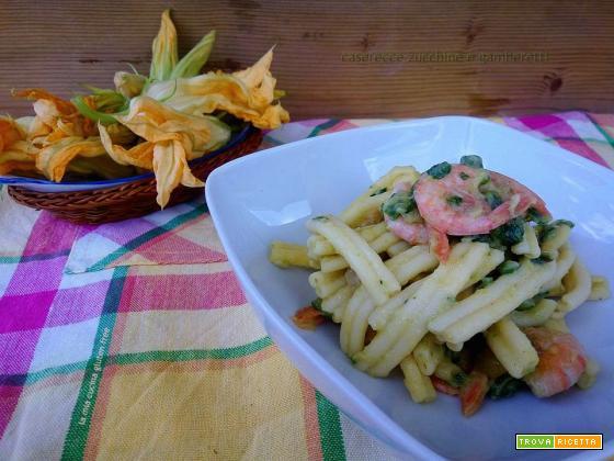 Caserecce zucchine e gamberetti senza glutine