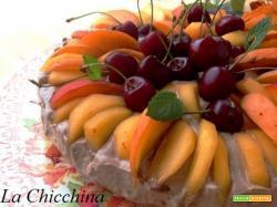 Torta mousse/gelato con frutta