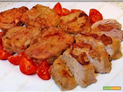 Medaglioni di filetto di maiale all'aceto rosso
