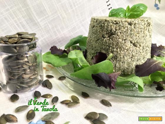 Tomino vegetale di semi di zucca – videoricetta