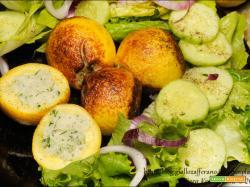 Zucchine limone ripiene di riso al limone