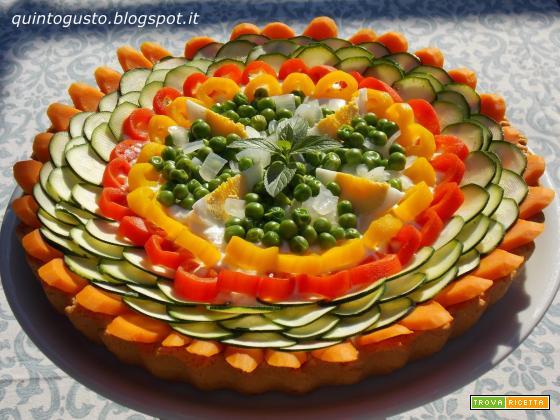 Crostata arcobaleno salata