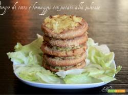 Burger di cotto e formaggio con patate alla julienne
