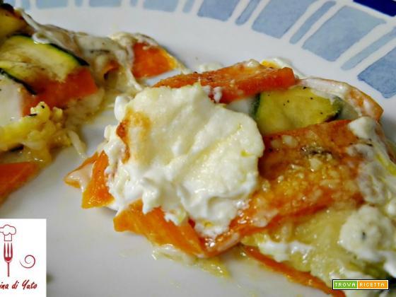 Lasagne di zucchine e carote