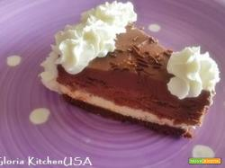 Cheesecake alle Tre Mousse di Cioccolato