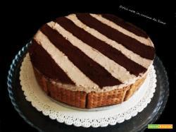 Torta fredda di biscotti 2 colori