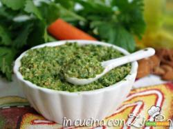 Pesto al sedano mandorle e carote
