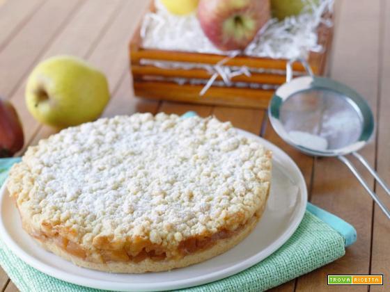Sbriciolata di mele e cannella