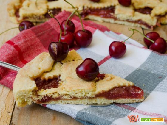 Crostata alla confettura di ciliegie – Ricetta senza uova