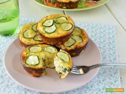 Frittatine al forno con zucchine e fiori di zucca