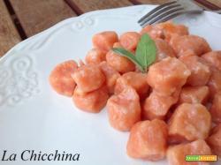 Gnocchi rossi (con il concentrato di pomodoro)