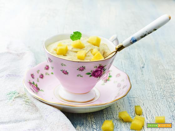 crema di mango e germogli di saraceno