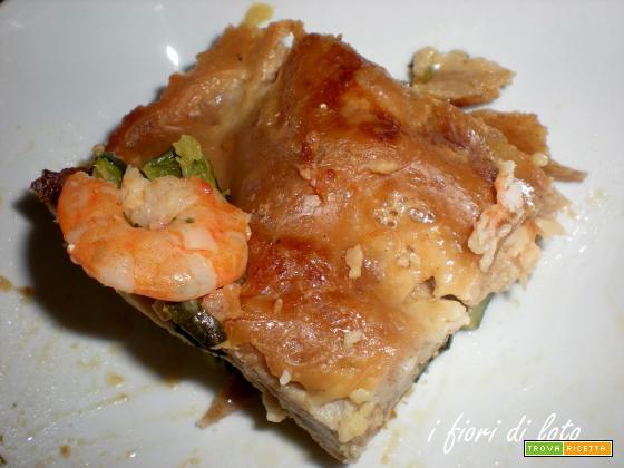 PASTICCIO DI PESCE (Con Zucchine e Mazzancolle)