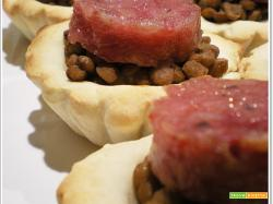 FINGER FOOD - COTECHINO E LENTICCHIE
