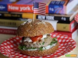 Hamburger di vitello in stile italo americano