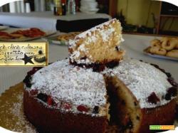 Torta soffice  ai mirtilli e gocce di cioccolato